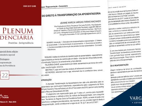 Artigo da Dr. Jeanne Vargas é publicado por Revista Jurídica
