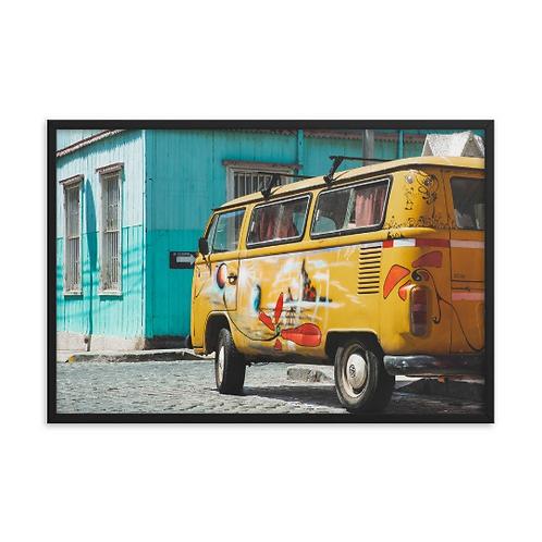 Yellow VW Van - Valparaiso, Chile