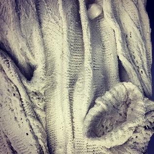 Slip dipped sweater detail