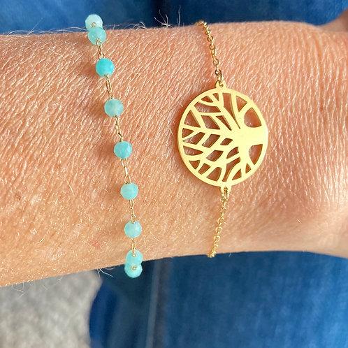 Bracelet Perline Turquoise