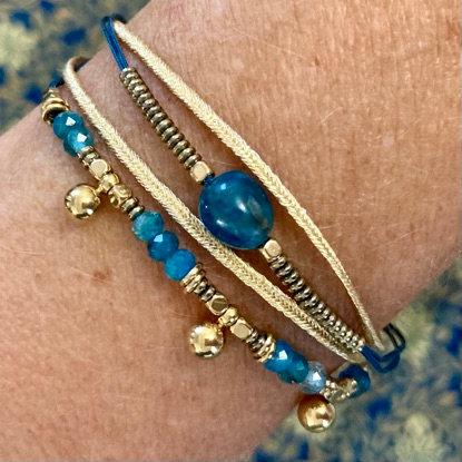 bracelet multirangs Apatite