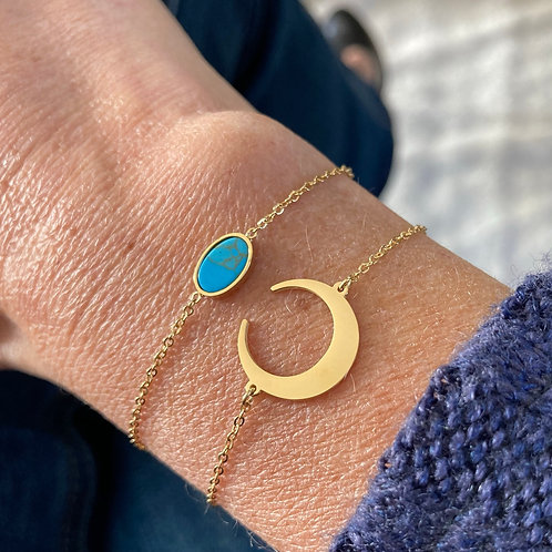 Bracelet Lune dorée