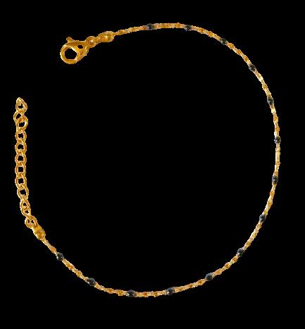 bracelet perles de résine noir
