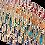 Thumbnail: colllier perles de résine, couleurs chaudes