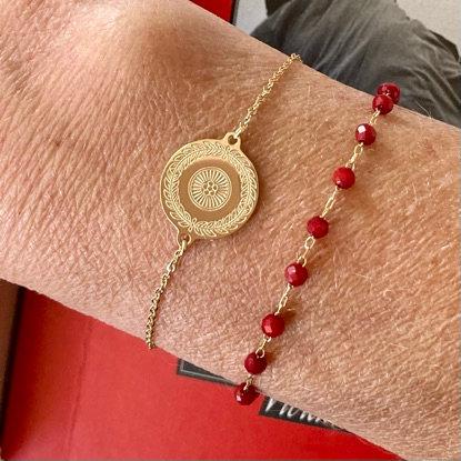 Bracelet Perline rouge