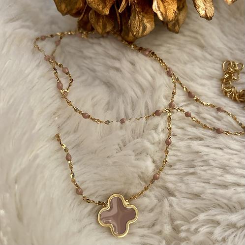 collier Trèfle, couleurs chaudes