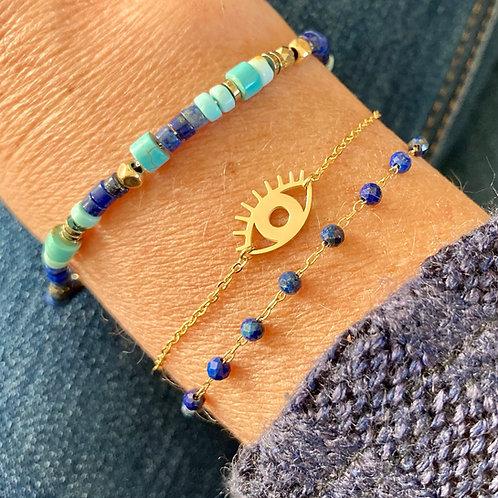 Bracelet Oeil doré