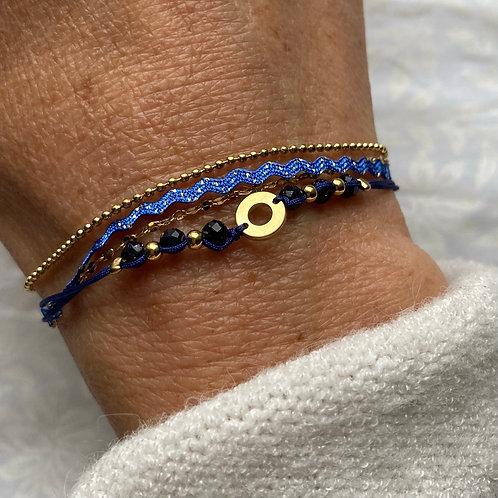 bracelet fin Cristal Bleu