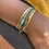 Thumbnail: Bracelet multirangs Locker Malachite