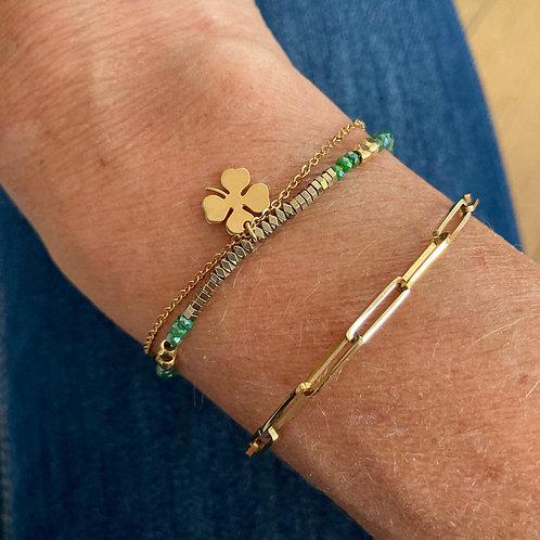 Bracelet Maille Rectangle (clips)