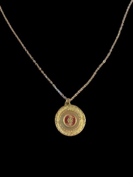 collier Médaille fleur