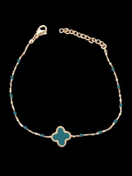 bracelet trèfle vert foncé