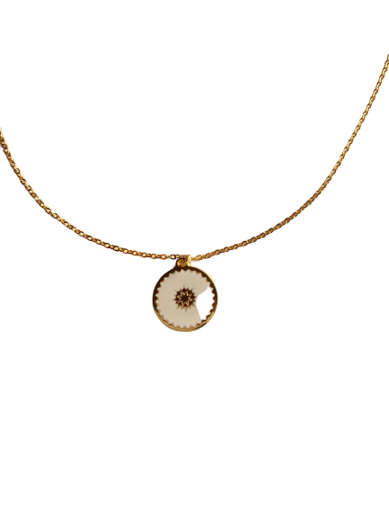 collier Email médaille