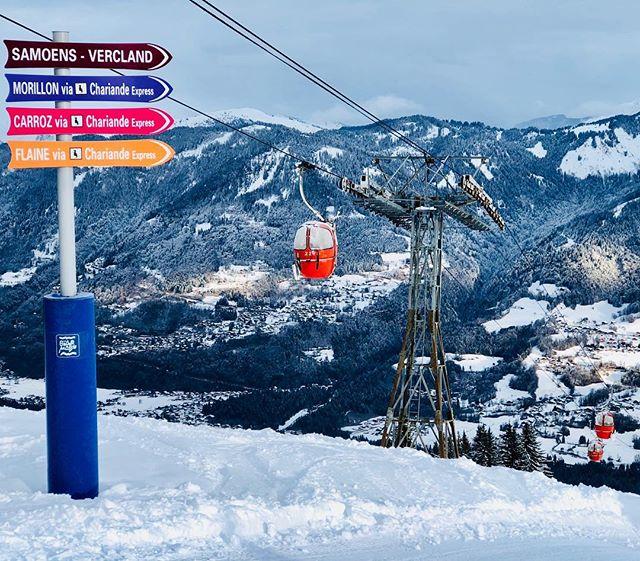 Vercland, notre remontée avec vue imprenable sur la vallée du Giffre #skiclubsamoens #samoens #grand