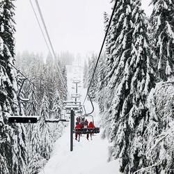 Le Ski Club seul sur le Chariande2  #skiclubsamoens #samoens #grandmassif