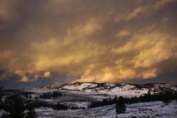 Sundown in Yellowstone