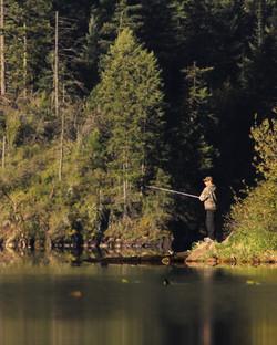 Fishing on Fernan Lake