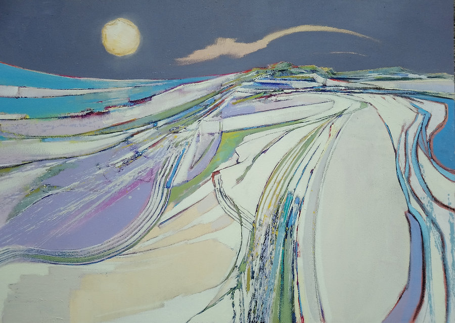 Daniel Cole Moon and silver sand