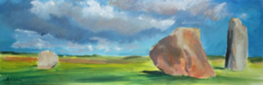 Angela Corben Clouds parting Avebury