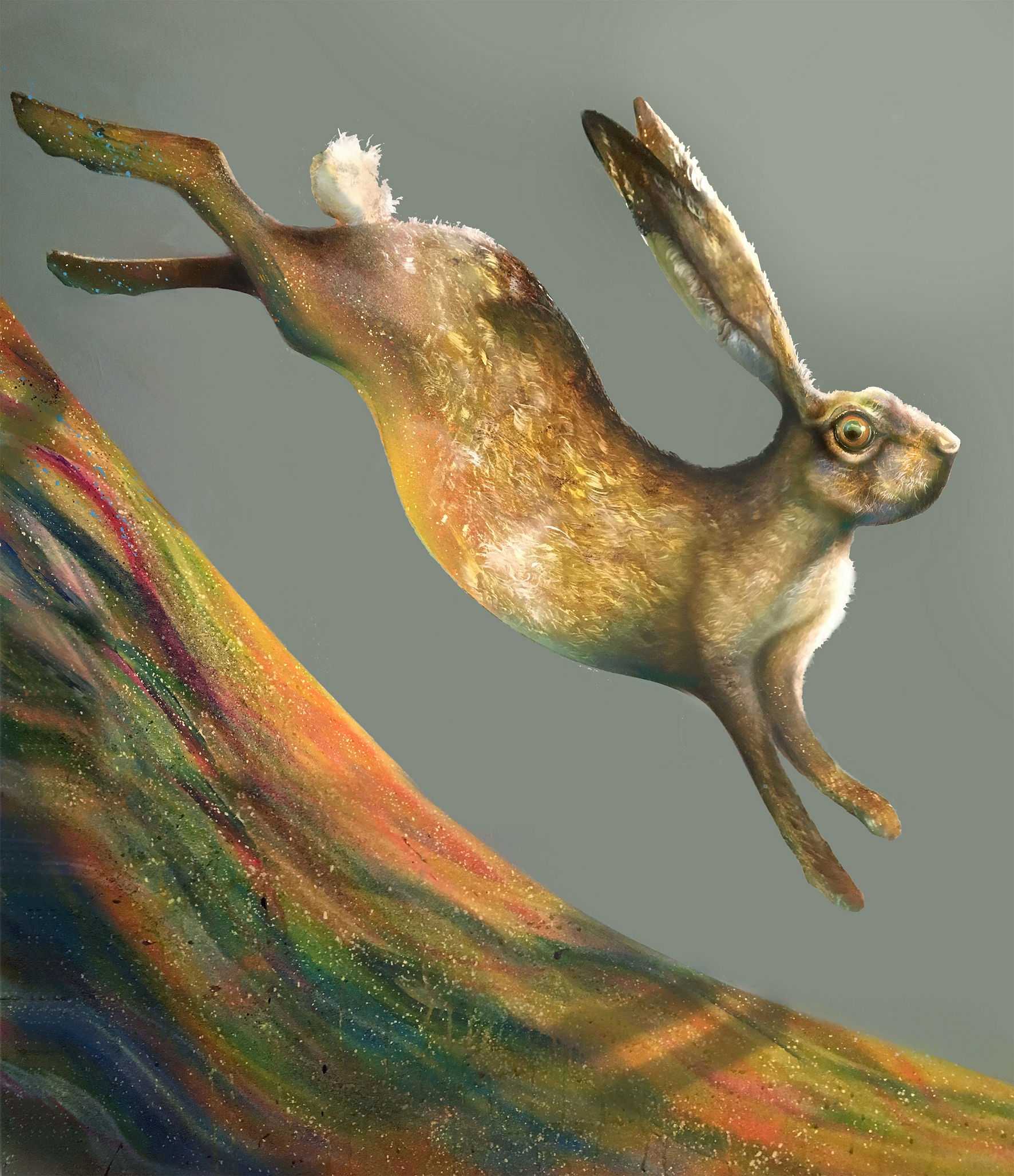 email hare painting free runner