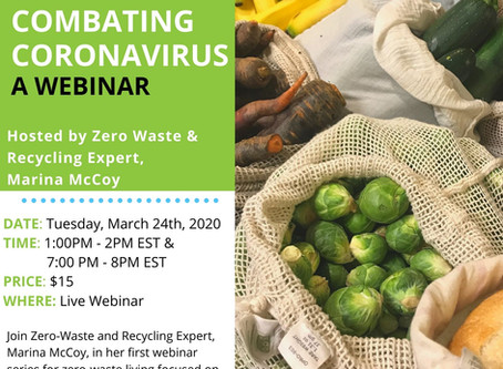 ANNOUNCEMENT: A Low-Waste Solution to Combating Coronavirus a Webinar