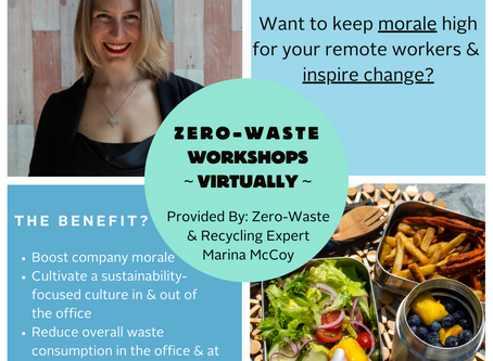 ANNOUNCEMENT: Virtual Zero-Waste Workshop Now Available!