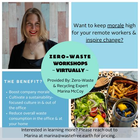 ANNOUNCEMENT: Virtual Zero-Waste Workshop Now Available!