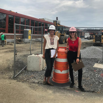 Alex & Marina consulting on construction project