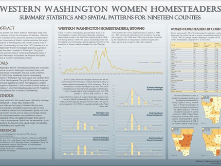 Western Washington Women Homesteaders: Summary Statistics and Spatial Patterns for Nineteen Counties
