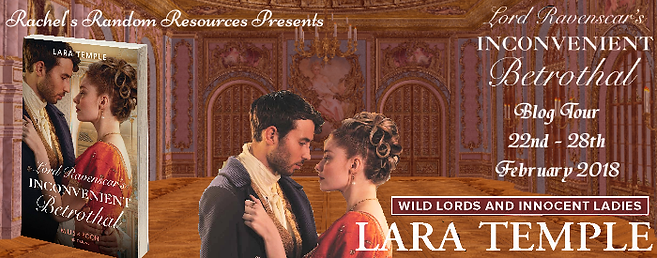 Lord Ravenscar's Inconvenient Betrothal Blog Tour Banner