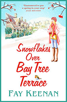 Snowflakes Over Bay Tree Terrace Cover