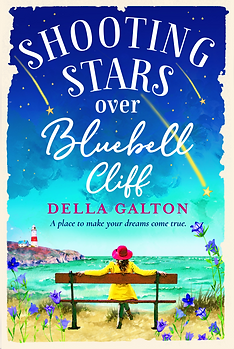 Shooting Stars Over Bluebell Cliff Cover