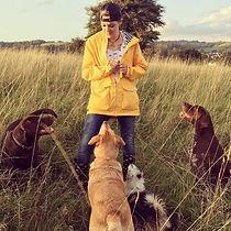 Illustrator Nicky and her dogs.jpg