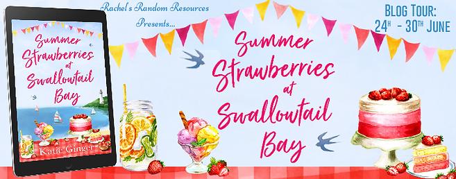Summer Strawberries at Swallowtail Bay Banner
