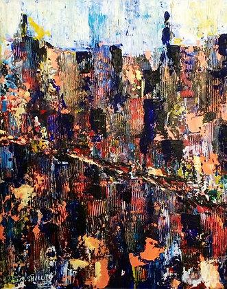 "The Ghetto-16"" by 20"" Original Acrylic"