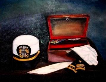 "Memories of Service -11"" by 14"" Original Oil"