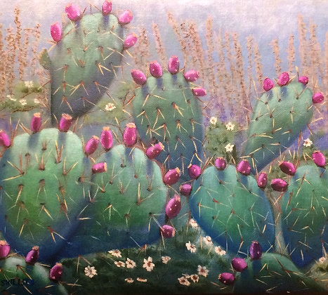 """Prickly Pear Delight Matted 5"""" by 7"""" print"""