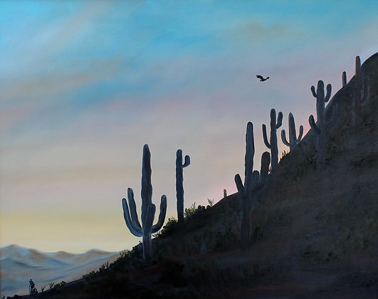 "Desert Tranquility -24"" by 30"" Original Oil & Acry"