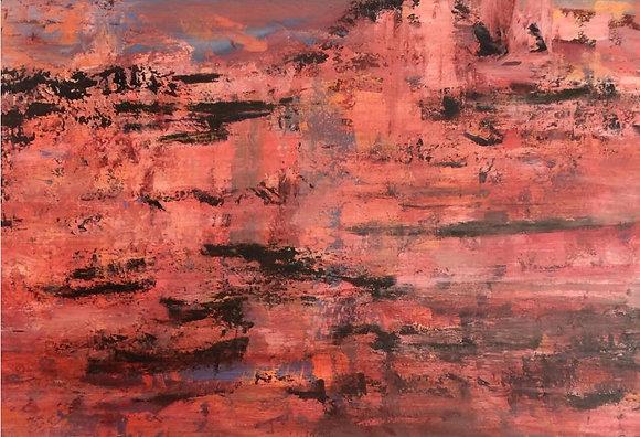 Red Rock -2' by 3' Original Acrylic