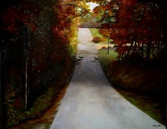 "Autumn Crossing -16"" by 20"" Original Oil"