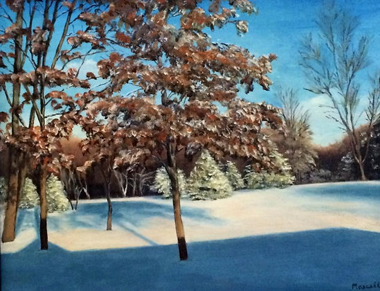 "Blue Winter -11"" by 14"" Original Oil"
