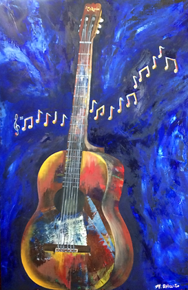 The Blues-2' by 3' Original Oil