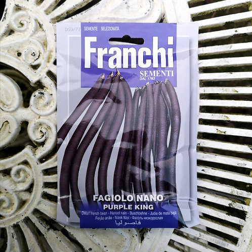 Purple King Dwarf French Bean from Franchi Seeds
