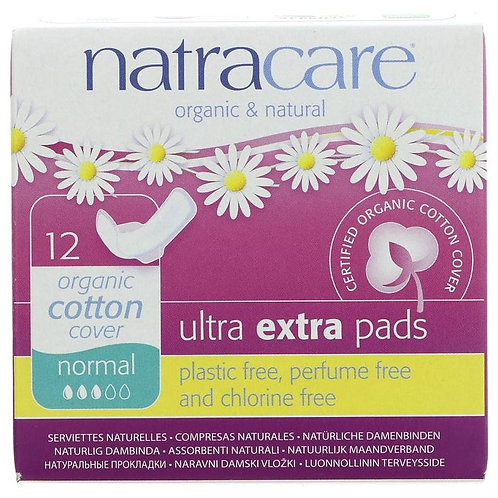 Natracare Sanitary Ultra Extra Pads (12 in a box)