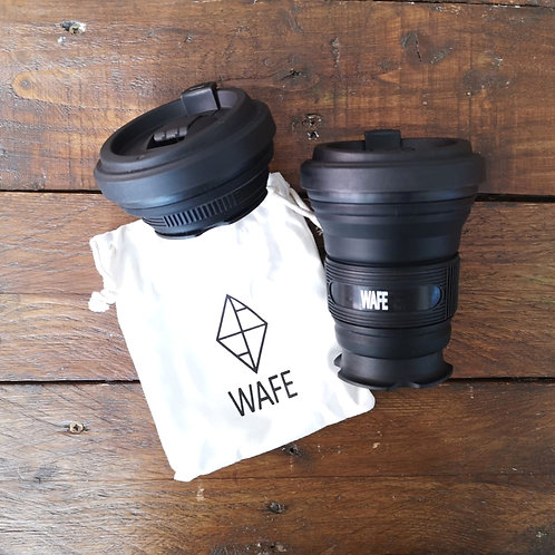 WAFE Black Collapsible Cup