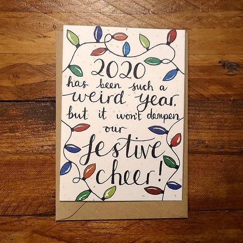 Festive Cheer Card on - plantable flower paper