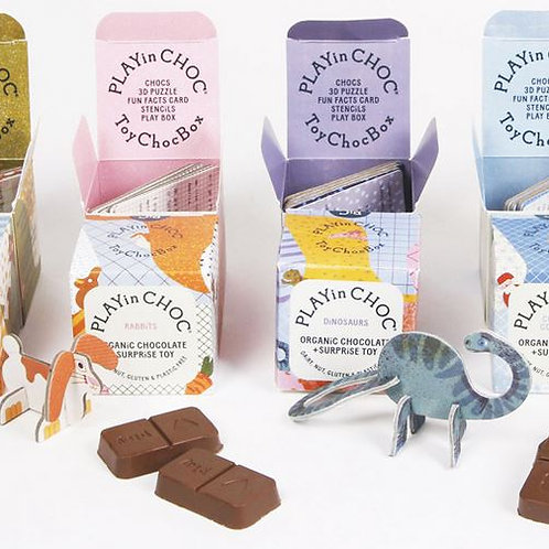 Play in Choc - Organic chocolate and surprise toy!