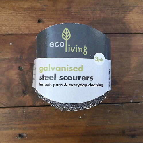 Galvanised Steel Scourer - 3 Pack - Eco Living