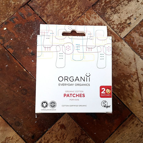 Organii Organic Cotton Plasters for Kids : 20 pieces 7cm x 2cm