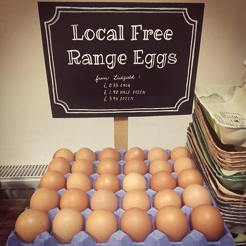 Free Range Eggs from Lichfield (6 eggs)